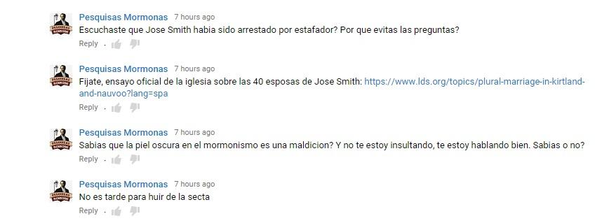 comentarios en youtube