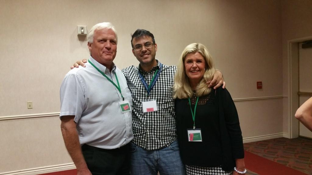 Manu con los Mattson en la conferencia de Ex Mormones en Salt Lake City, 2015